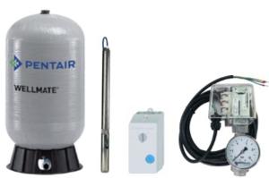 Unterwasser-Hauswasserwerk Oase U-4085 MP 75 mit Membrandruckgefäß WellMate