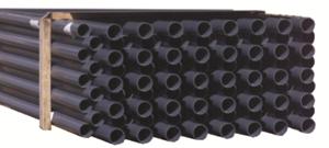 PVC Rohr DA63 PN16 - 5m Stange gemufft dunkelgrau (402727)
