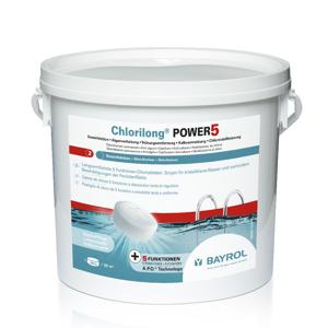 Chlorilong Power5 - 5kg Eimer mit 250g Chlortabletten (07129)