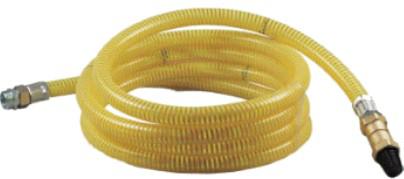 Saugschlauchgarnitur in PVC inkl. Fussventil 1