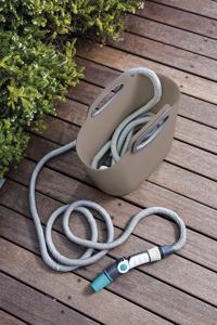 Aquapop 15m - Komplettset selbstausdehnender Schlauch - braun/grau
