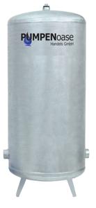 Lowara Windkessel verzinkt 300L / 6 bar mit Füße