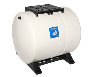 Membrandruckgefäß 60L horizontal PressureWave mit Füße, weiß
