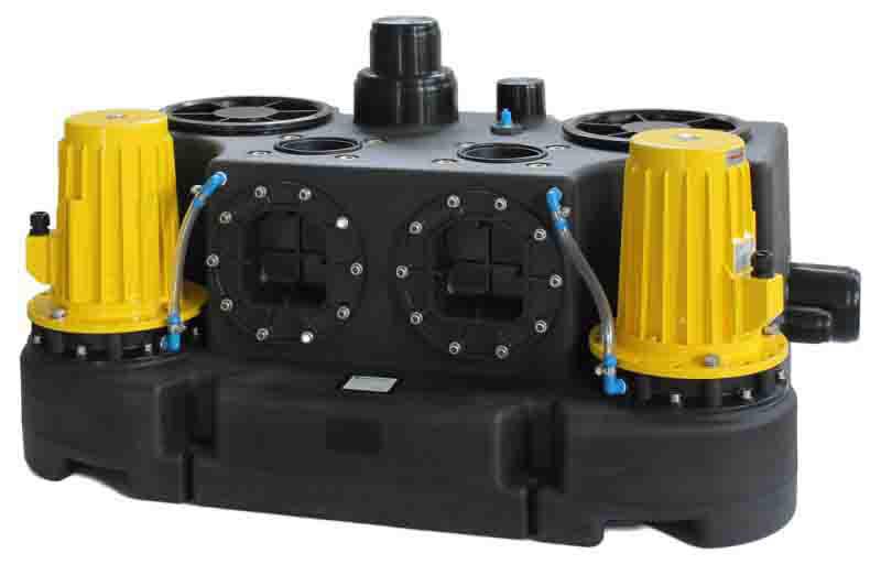 Abwasserhebeanlage kompaktboy doppel 3 0 d 400v for Oase living water ersatzteile