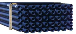 PVC Rohr DA63 PN16 - 3m Stange gemufft dunkelgrau (4027273)