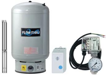 Unterwasser-Hauswasserwerk Oase U-4085 M80v mit durchströmten Membrandruckgefäß