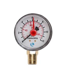 Manometer 100° 0 - 12 bar Anschluß  1/2