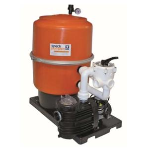 Kompaktfilteranlage mit Spannringfilter DM 600 orange mit Aqua Plus 11