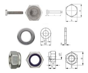 NIRO-Schraubenset für Handpumpen