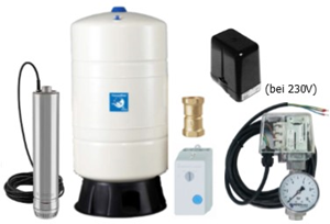 Unterwasser-Hauswasserwerk Oase U-5055 T M100v mit Membrandruckgefäß