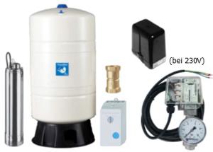 Unterwasser-Hauswasserwerk Oase U-5048 M M100v mit Membrandruckgefäß