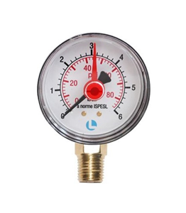 Manometer 100° 0 - 6 bar Anschluß  1/2
