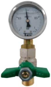 Glyzerin-Vakuummeter für Wartungen von Pumpen und Anlagen