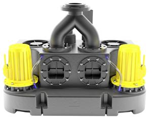 Abwasserhebeanlage Kompaktboy Doppel 1,5 D 400V