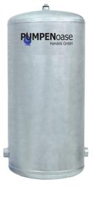 Lowara Windkessel verzinkt 150L / 6 bar ohne Füße (Standard)
