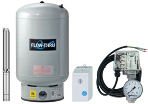 Unterwasser-Hauswasserwerk Oase U-4060 M80v mit durchströmten Membrandruckgefäß